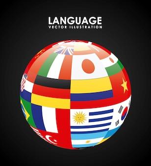Языковой дизайн плаката