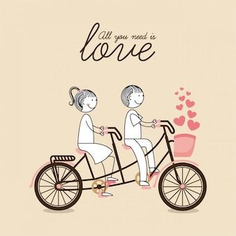 自転車のグラフィックデザインのベクトル図