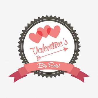 バレンタインセールデザイン