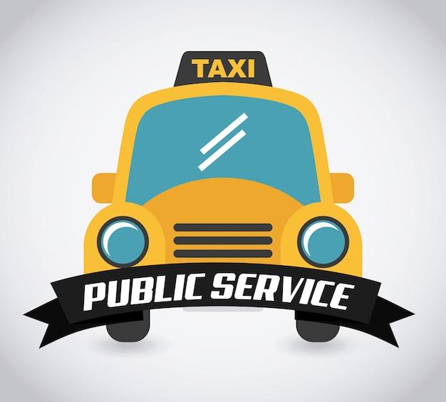 灰色の背景上の公共サービス