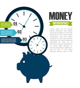 お金のインフォグラフィック