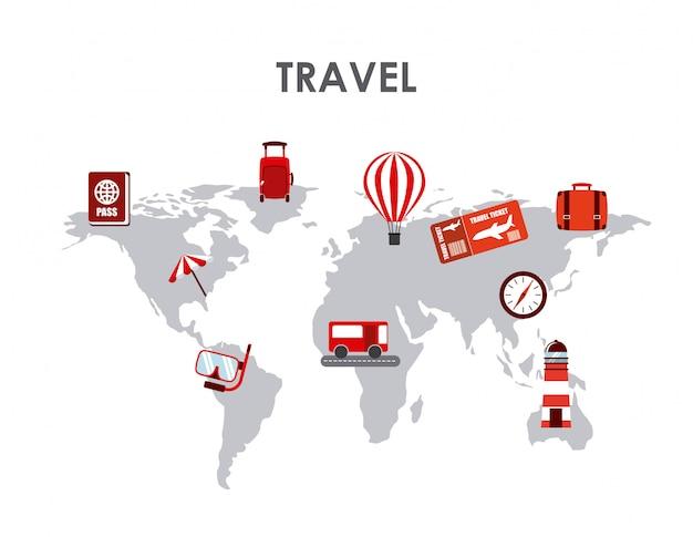 旅行の概念