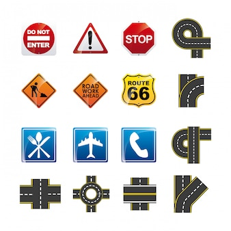 道路のインフォグラフィック