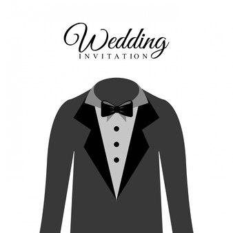 白い背景の上の結婚式のデザインベクトルイラスト