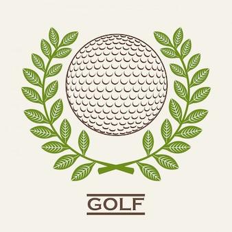白い背景ベクトルイラストゴルフデザイン
