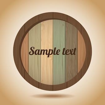 ビンテージ背景上の木製のラベル