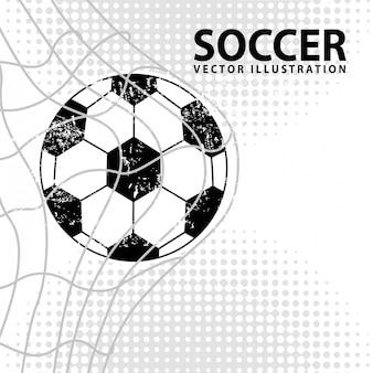 白い背景ベクトルイラストサッカーデザイン