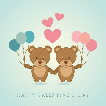 幸せなバレンタインデーデザイン背景ベクトルイラスト