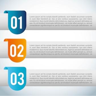 青い背景ベクトルイラスト上番号デザイン