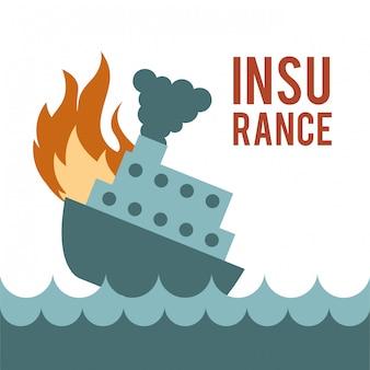 白い背景の上の保険デザインベクトルイラスト