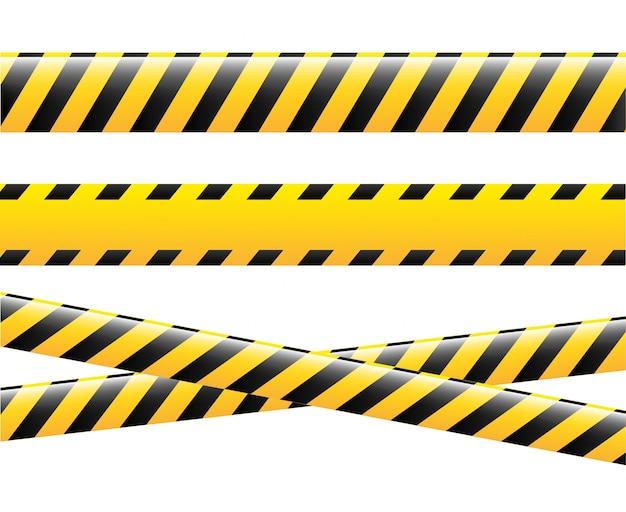 Дизайн осторожность на белом фоне векторные иллюстрации