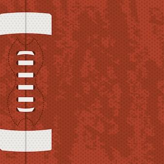 茶色の背景上のアメリカンフットボールのデザイン