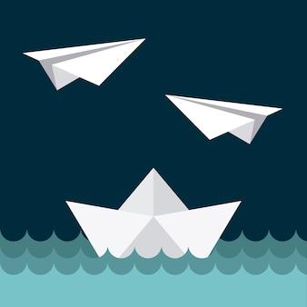 Дизайн игрушек на синем фоне векторных иллюстраций