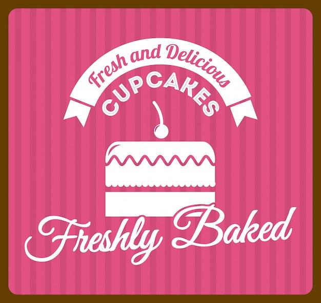 Дизайн пекарни на фоне линейного векторные иллюстрации