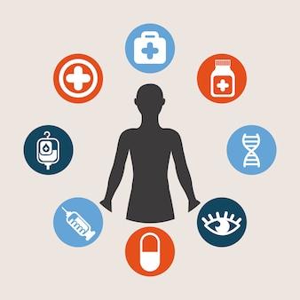 Медицинский дизайн на белом фоне векторные иллюстрации