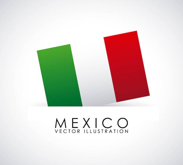 白い背景ベクトルイラストメキシコデザイン