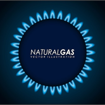 Газовый дизайн на синем фоне векторных иллюстраций