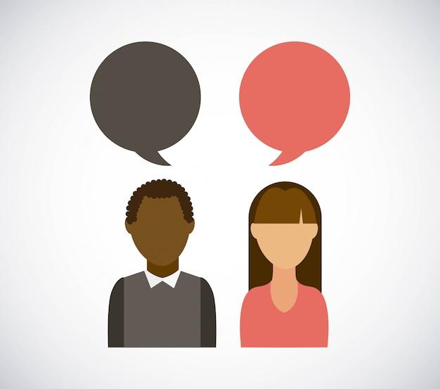Люди дизайн на белом фоне векторные иллюстрации