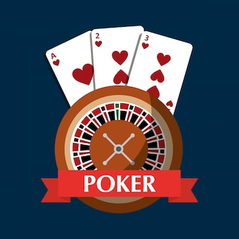 ポーカールーレットカードギャンブルリスクバナー