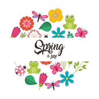 こんにちは春カード