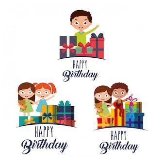 Поздравительная открытка с детьми