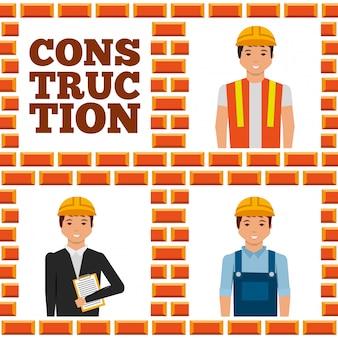 建設労働者レタリングセット