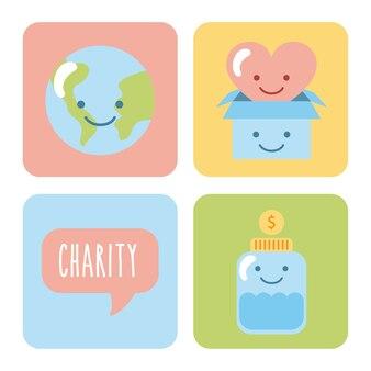 子どもたちが寄付するアイコンセット