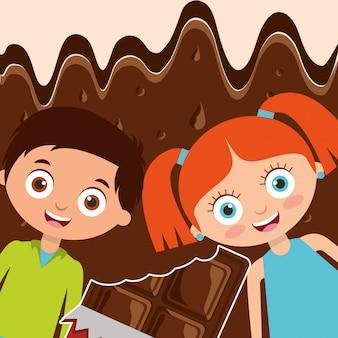人々チョコレート菓子