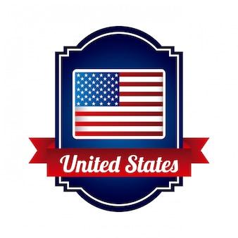 白い背景ベクトルイラストアメリカデザイン