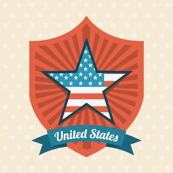 アメリカのデザインベージュ色の背景ベクトルイラスト