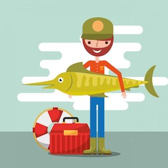 Рыбак рыбалка мультфильм