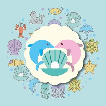 Мультфильм морской жизни