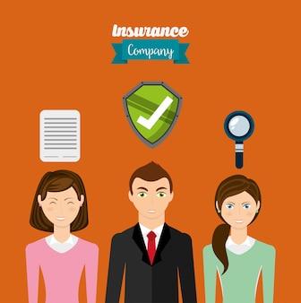 保険のアイコンデザイン