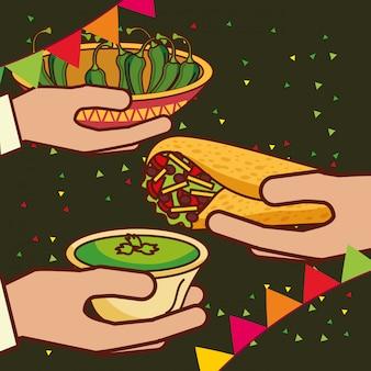 Люди мексиканская еда