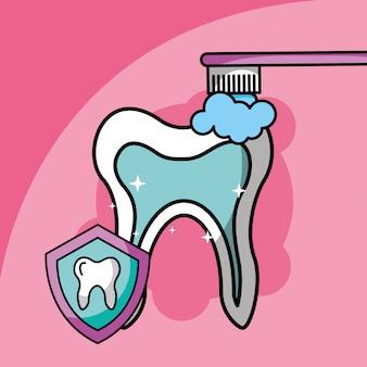 Чистка зубов символ стоматологической помощи