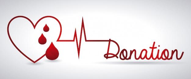 血液デザインを寄付