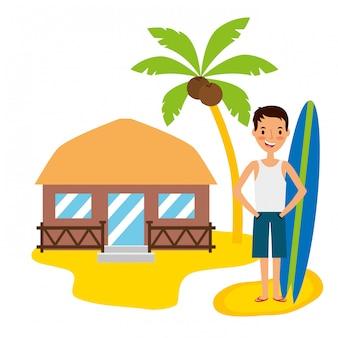 夏時間の休日の人々