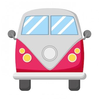 Ретро фургон автомобильный транспорт