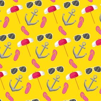 Бесшовные модели летние каникулы обои
