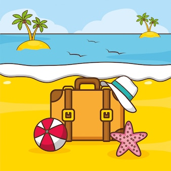 ビーチ休暇