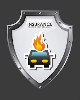 保険のグラフィックデザインのベクトル図
