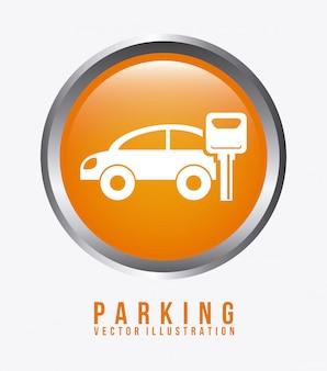 駐車場グラフィックデザインベクトルイラスト