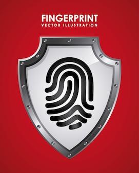 Отпечатки пальцев графического дизайна векторная иллюстрация