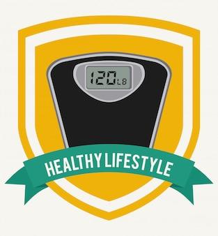 健康的なライフスタイルのグラフィックデザイン