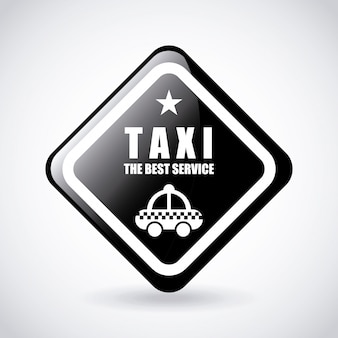 タクシーサービスのロゴのグラフィックデザイン