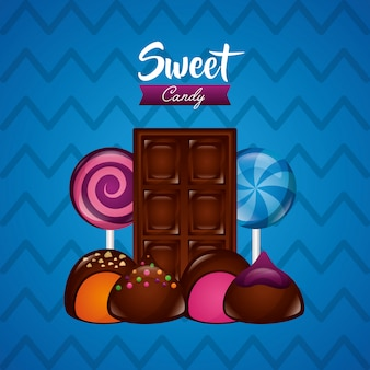 Сладкие конфеты фон