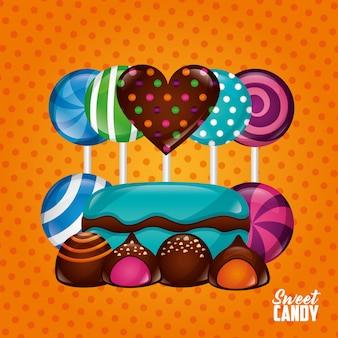 甘いお菓子の背景
