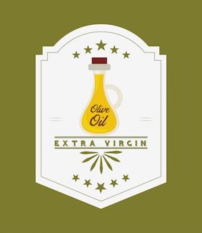 Этикетка с оливковым маслом