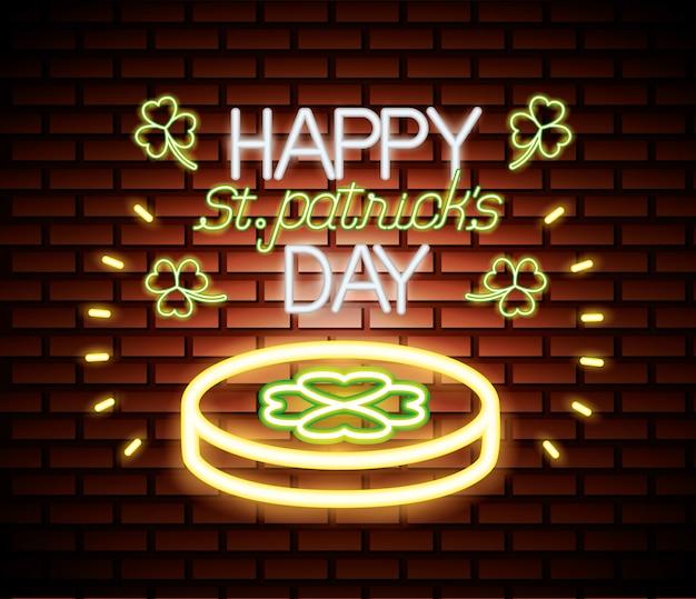 День святого патрика неоновый