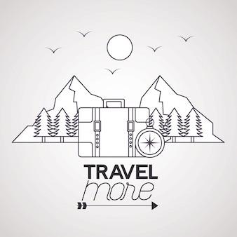 Путешествие больше плаката иллюстрации